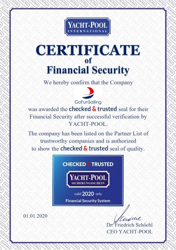Financiele zekerheids certificaat