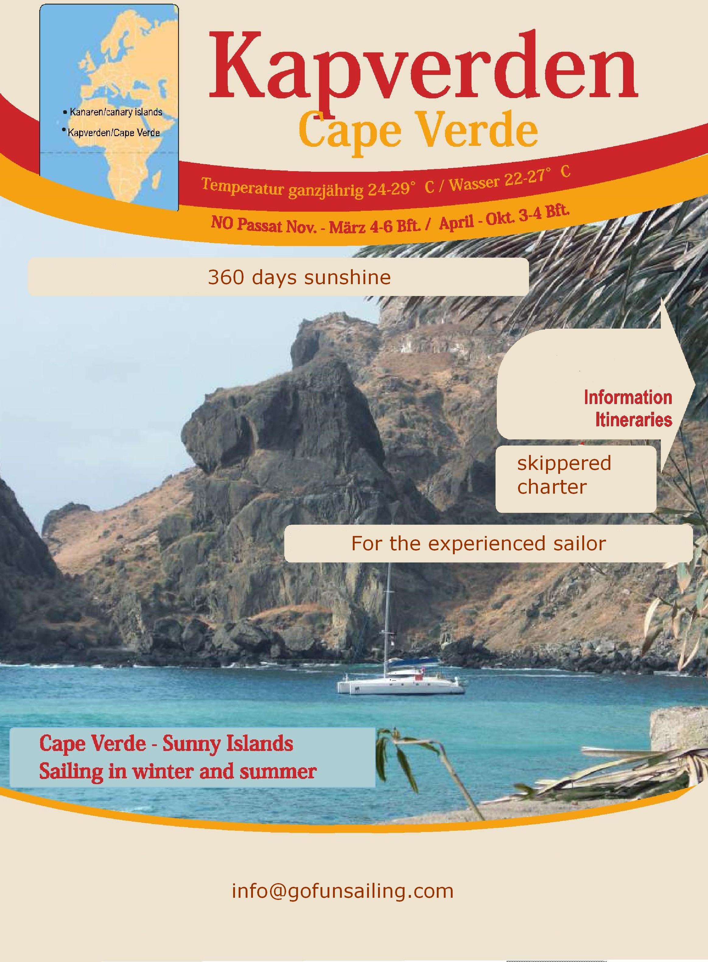 Kaap Verden Zeilroutes